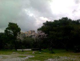regen in Athene