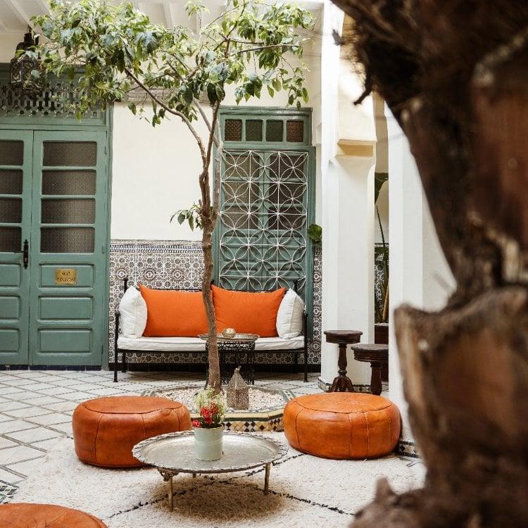 Riad Orange patio