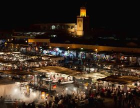 Djemaa El Fna streetfood in Marrakech