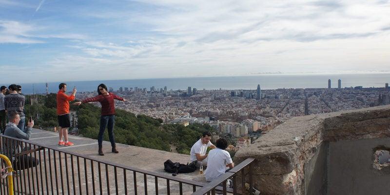 Uitzicht Barcelona bunkers Carmel