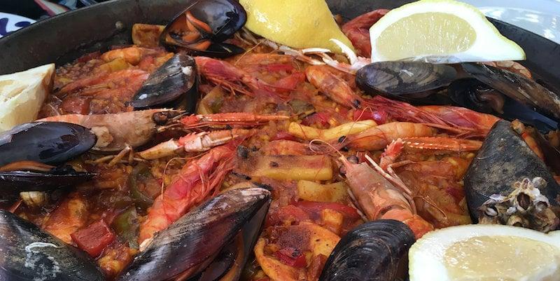 Paella in La Barceloneta