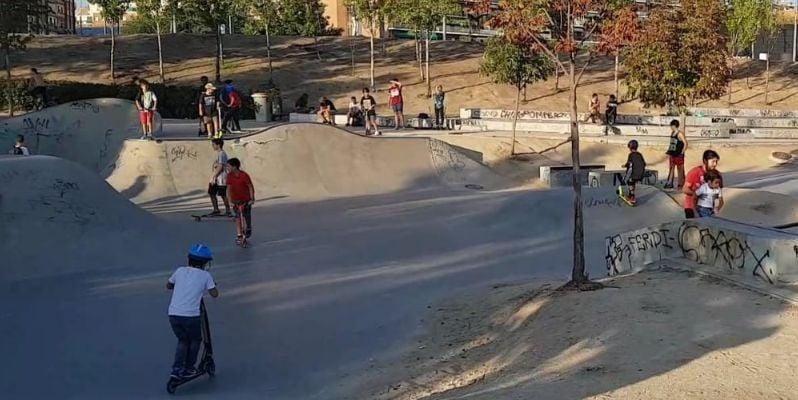 Madrid el río Manzanares met kinderen