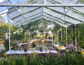 Ga lekker eten in een tuincentrum!