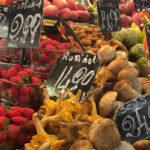 producten op de versmarkt in Barcelona