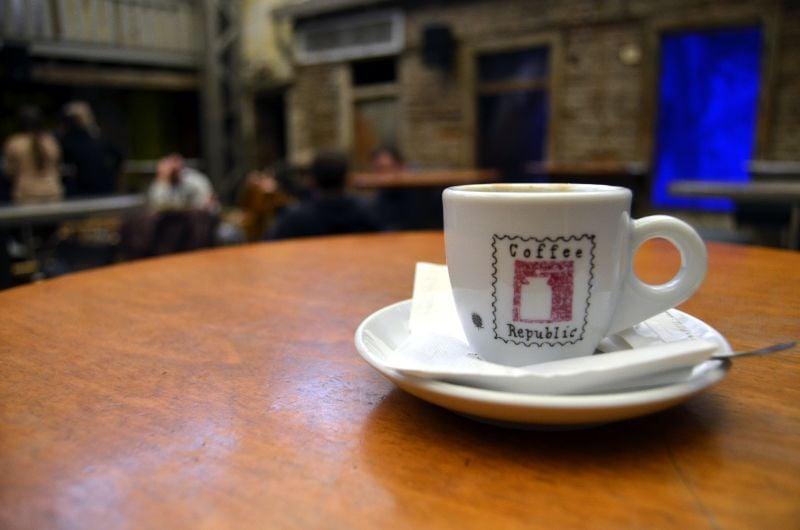 koffiedrinken in Athene