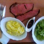 Praag kantyna slager chef-kok heel veel vlees