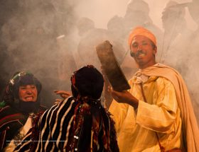 Festivals van Marrakech: traditionele muziekgroep