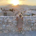 Zonsondergang Dalt Vila Oktober Ibiza
