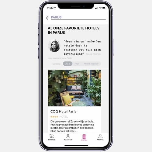 app hotelpagina