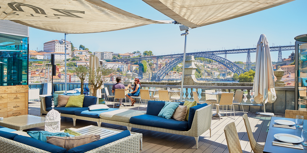 terrassen van Porto