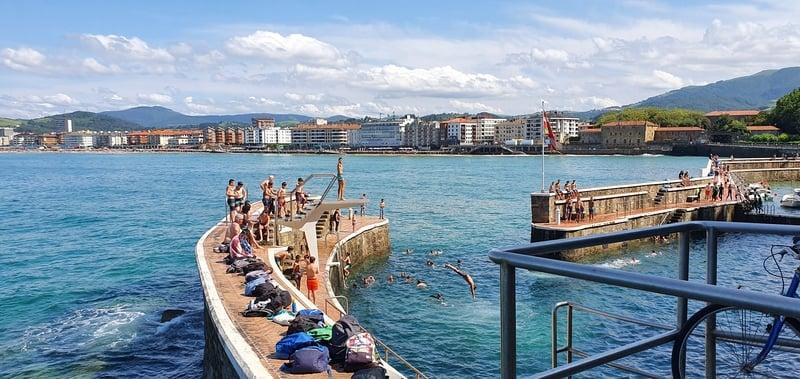 zwemmen in bilbao of san sebastian